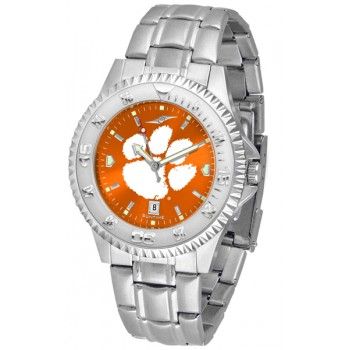 Clemson University Tigers Mens Watch - Competitor Anochrome Steel Band