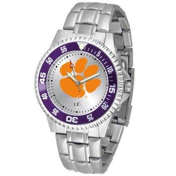 Clemson University Tigers Mens Watch - Competitor Steel Band