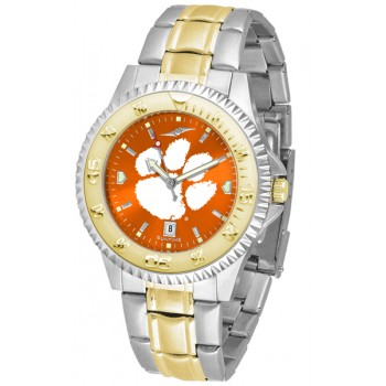 Clemson University Tigers Mens Watch - Competitor Anochrome Two-Tone