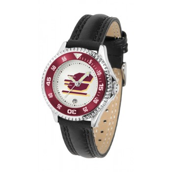 Central Michigan University Ladies Watch - Competitor Poly/Leather Band