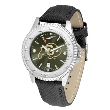 University Of Colorado Buffaloes Mens Watch - Competitor Anochrome Poly/Leather Band