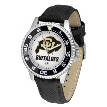 University Of Colorado Buffaloes Mens Watch - Competitor Poly/Leather Band