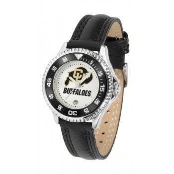 University Of Colorado Buffaloes Ladies Watch - Competitor Poly/Leather Band