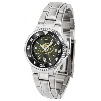 University Of Colorado Buffaloes Ladies Watch - Competitor Anochrome - Colored Bezel - Steel Band