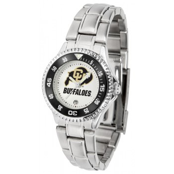 University Of Colorado Buffaloes Ladies Watch - Competitor Steel Band