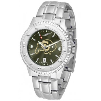 University Of Colorado Buffaloes Mens Watch - Competitor Anochrome Steel Band