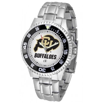 University Of Colorado Buffaloes Mens Watch - Competitor Steel Band