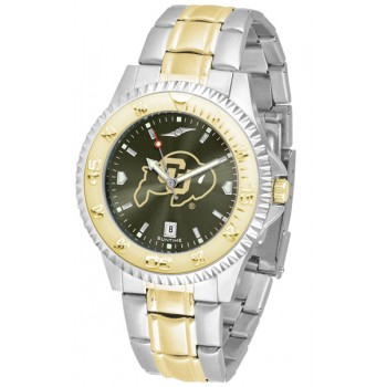 University Of Colorado Buffaloes Mens Watch - Competitor Anochrome Two-Tone