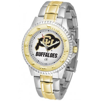 University Of Colorado Buffaloes Mens Watch - Competitor Two-Tone