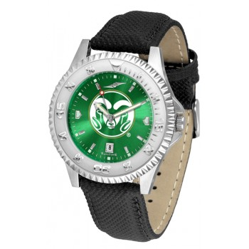 Colorado State University Rams Mens Watch - Competitor Anochrome Poly/Leather Band