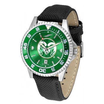 Colorado State University Rams Mens Watch - Competitor Anochrome Colored Bezel Poly/Leather Band
