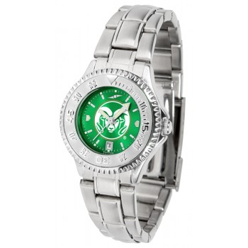 Colorado State University Rams Ladies Watch - Competitor Anochrome Steel Band