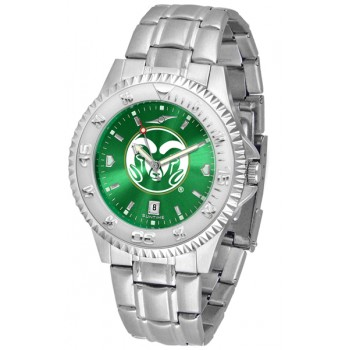 Colorado State University Rams Mens Watch - Competitor Anochrome Steel Band