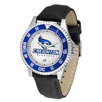 Creighton University Bluejays Mens Watch - Competitor Poly/Leather Band