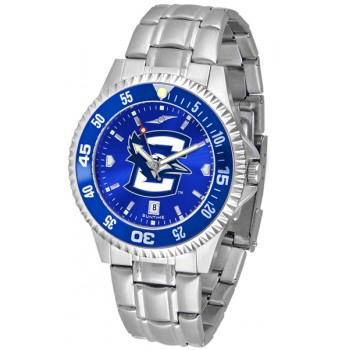 Creighton University Bluejays Mens Watch - Competitor Anochrome - Colored Bezel - Steel Band