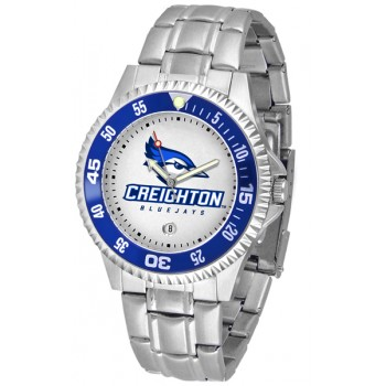 Creighton University Bluejays Mens Watch - Competitor Steel Band