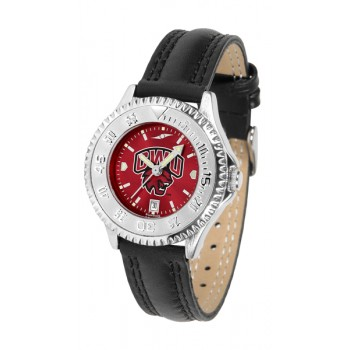 Central Washington University Wildcats Ladies Watch - Competitor Anochrome Poly/Leather Band