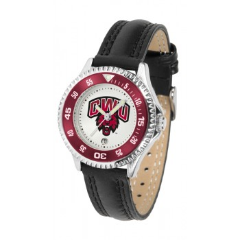 Central Washington University Wildcats Ladies Watch - Competitor Poly/Leather Band