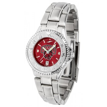 Central Washington University Wildcats Ladies Watch - Competitor Anochrome Steel Band