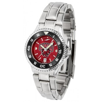 Central Washington University Wildcats Ladies Watch - Competitor Anochrome - Colored Bezel - Steel Band