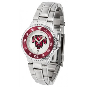 Central Washington University Wildcats Ladies Watch - Competitor Steel Band