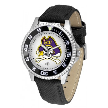 East Carolina University Pirates Mens Watch - Competitor Poly/Leather Band
