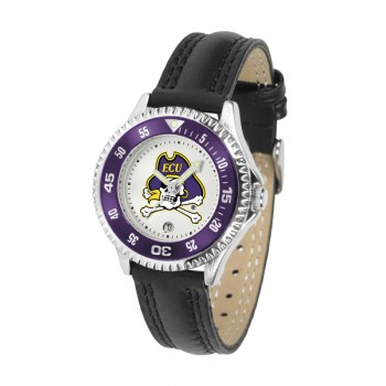 East Carolina University Pirates Ladies Watch - Competitor Poly/Leather Band