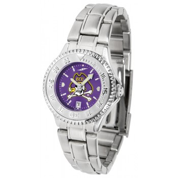East Carolina University Pirates Ladies Watch - Competitor Anochrome Steel Band