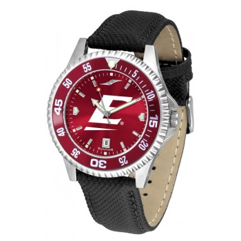 Eastern Kentucky University Colonels Mens Watch - Competitor Anochrome Colored Bezel Poly/Leather Band