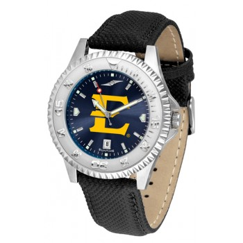 East Tennessee State University Buccaneers Mens Watch - Competitor Anochrome Poly/Leather Band