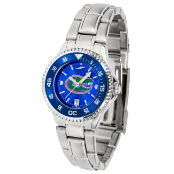 University Of Florida Gators Ladies Watch - Competitor Anochrome - Colored Bezel - Steel Band