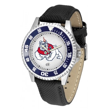 Fresno State Bulldogs Mens Watch - Competitor Poly/Leather Band