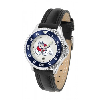Fresno State Bulldogs Ladies Watch - Competitor Poly/Leather Band