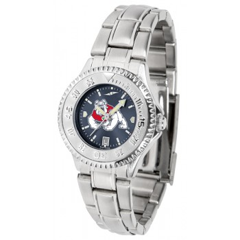 Fresno State Bulldogs Ladies Watch - Competitor Anochrome Steel Band