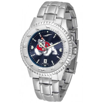 Fresno State Bulldogs Mens Watch - Competitor Anochrome Steel Band