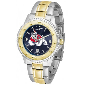 Fresno State Bulldogs Mens Watch - Competitor Anochrome Two-Tone