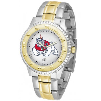 Fresno State Bulldogs Mens Watch - Competitor Two-Tone