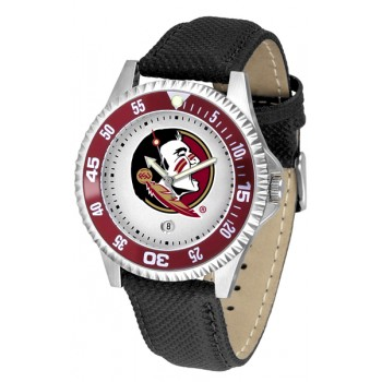 Florida State University Seminoles Mens Watch - Competitor Poly/Leather Band