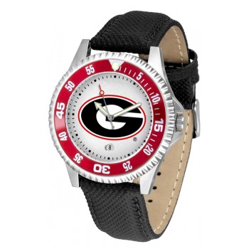 University Of Georgia Bulldogs Mens Watch - Competitor Poly/Leather Band