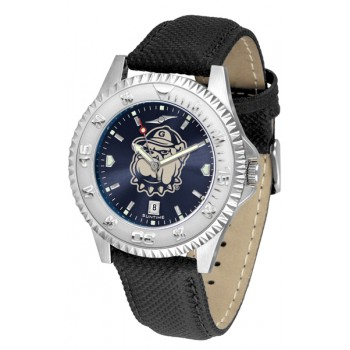 Georgetown University Hoyas Mens Watch - Competitor Anochrome Poly/Leather Band