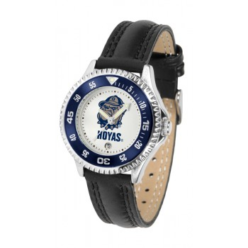 Georgetown University Hoyas Ladies Watch - Competitor Poly/Leather Band