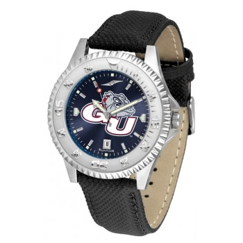 Gonzaga University Bulldogs Mens Watch - Competitor Anochrome Poly/Leather Band