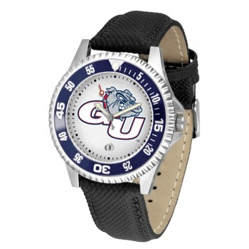 Gonzaga University Bulldogs Mens Watch - Competitor Poly/Leather Band