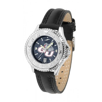 Gonzaga University Bulldogs Ladies Watch - Competitor Anochrome Poly/Leather Band