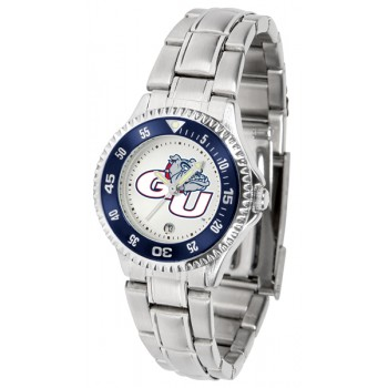Gonzaga University Bulldogs Ladies Watch - Competitor Steel Band