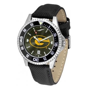 Grambling State University Tigers Mens Watch - Competitor Anochrome Colored Bezel Poly/Leather Band