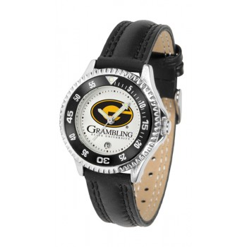 Grambling State University Tigers Ladies Watch - Competitor Poly/Leather Band