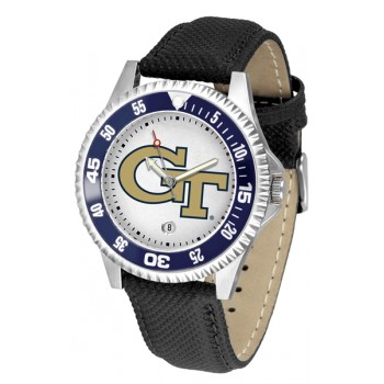 Georgia Institute Of Technology Yellow Jackets Mens Watch - Competitor Poly/Leather Band