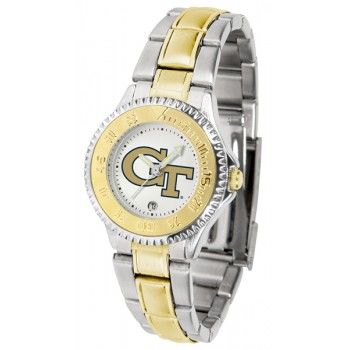 Georgia Institute Of Technology Yellow Jackets Ladies Watch - Competitor Two-Tone