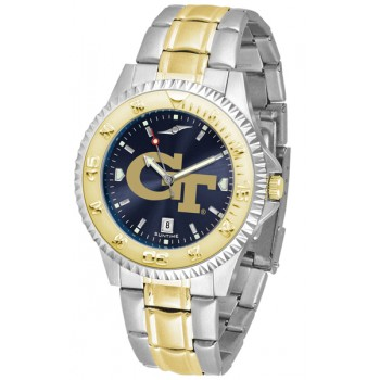 Georgia Institute Of Technology Yellow Jackets Mens Watch - Competitor Anochrome Two-Tone